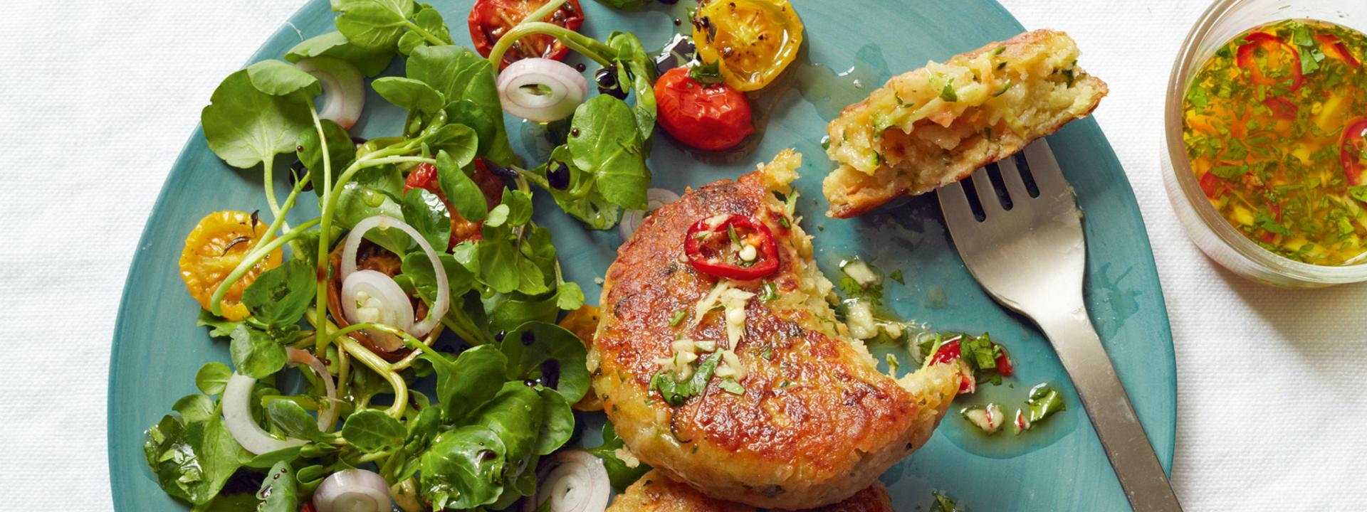 Halloumi Courgette And Herb Cakes Recipe Gordon Ramsay Recipes