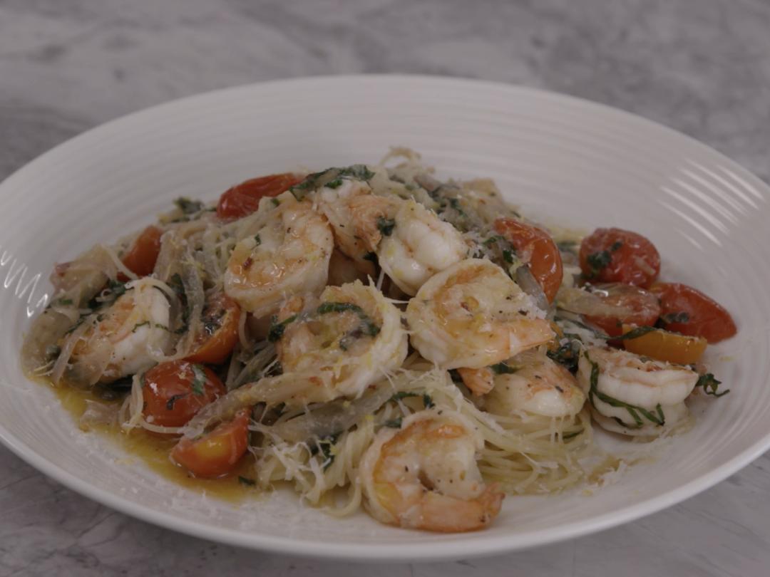 Shrimp Scampi With Capellini Pasta
