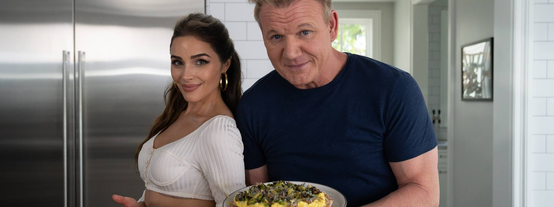 Gordon and Olivia breakfast pizza
